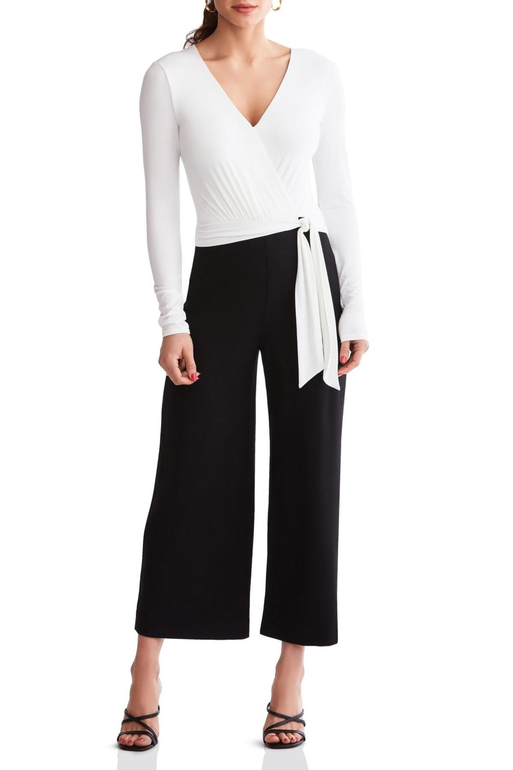 Bailey 44 Black & White Jumpsuit - Front Full Image