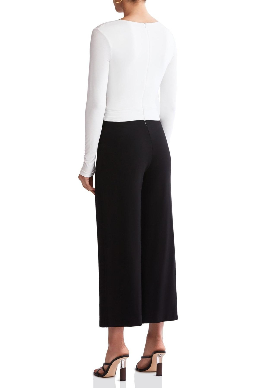 Bailey 44 Black & White Jumpsuit - Side Cropped Image