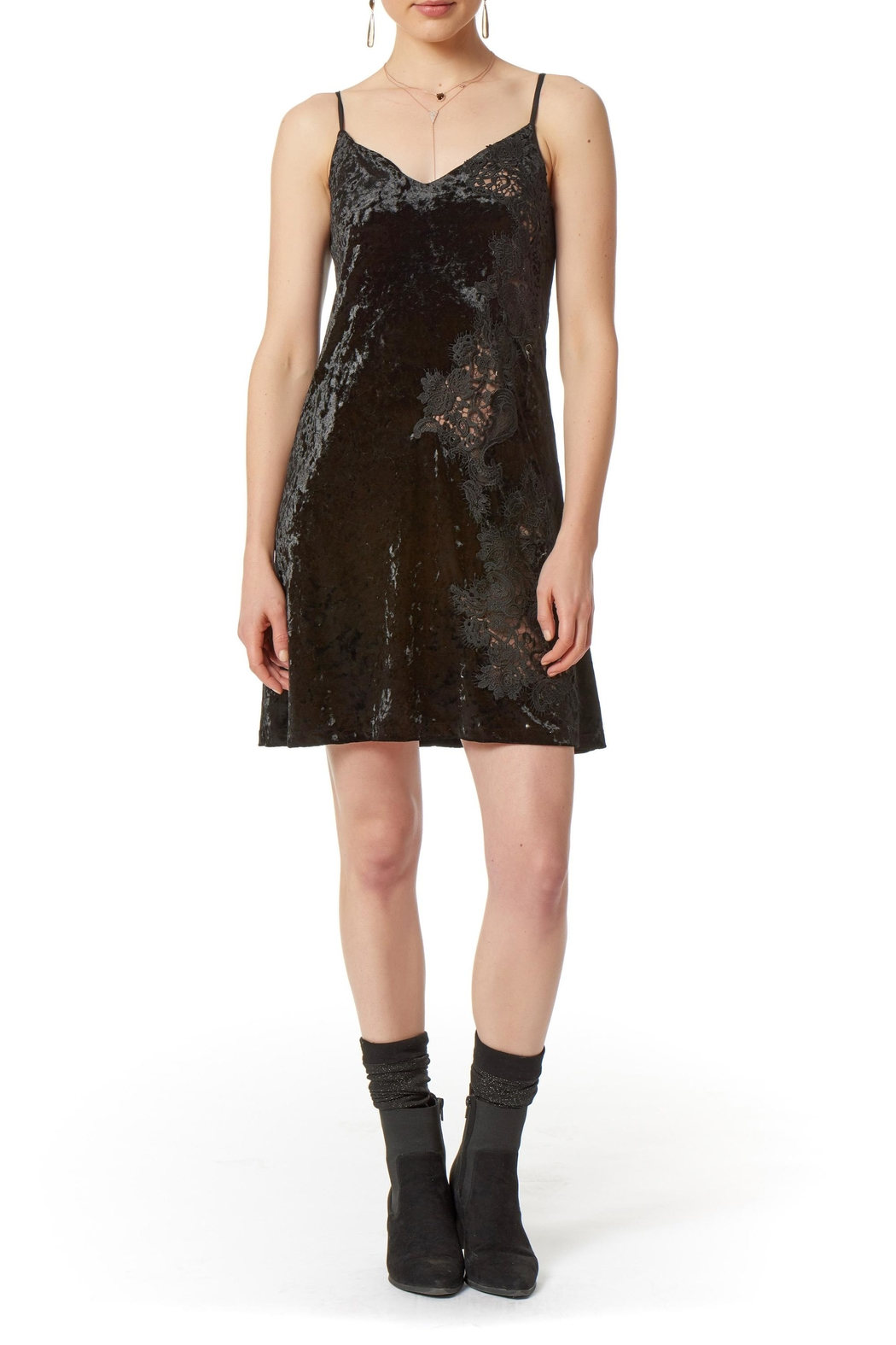 Bailey 44 Casting Call Velvet Dress - Front Cropped Image