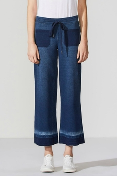 Shoptiques Product: Denim-Inspired Cropped Sweatpants