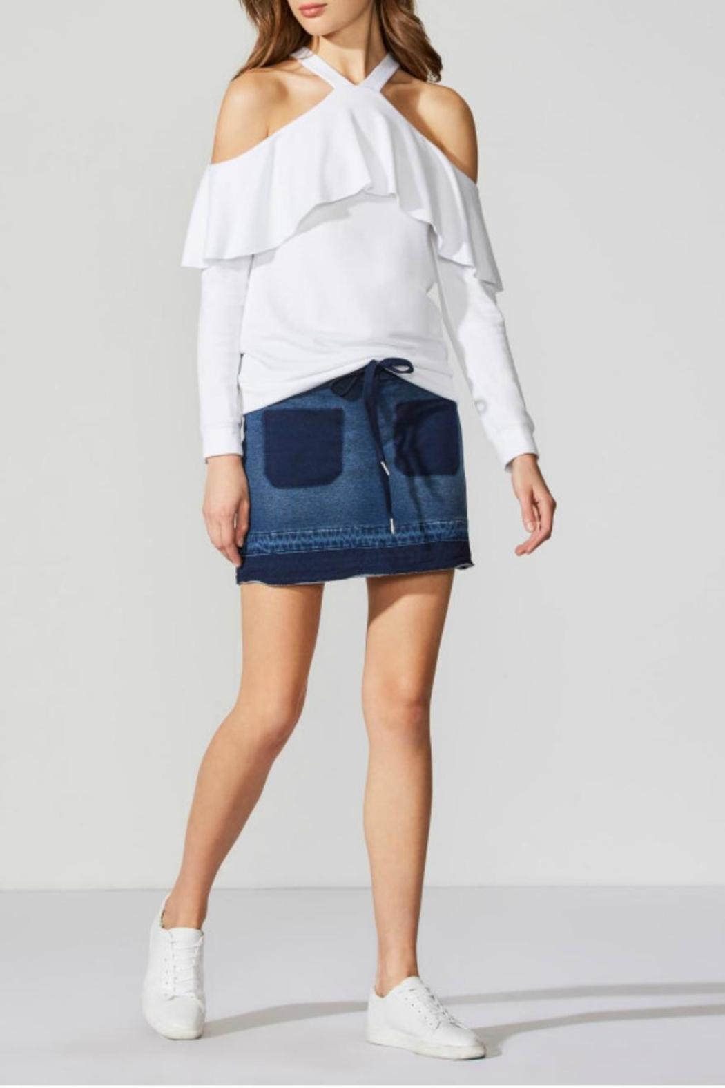 Bailey 44 Denim Skirt - Front Cropped Image