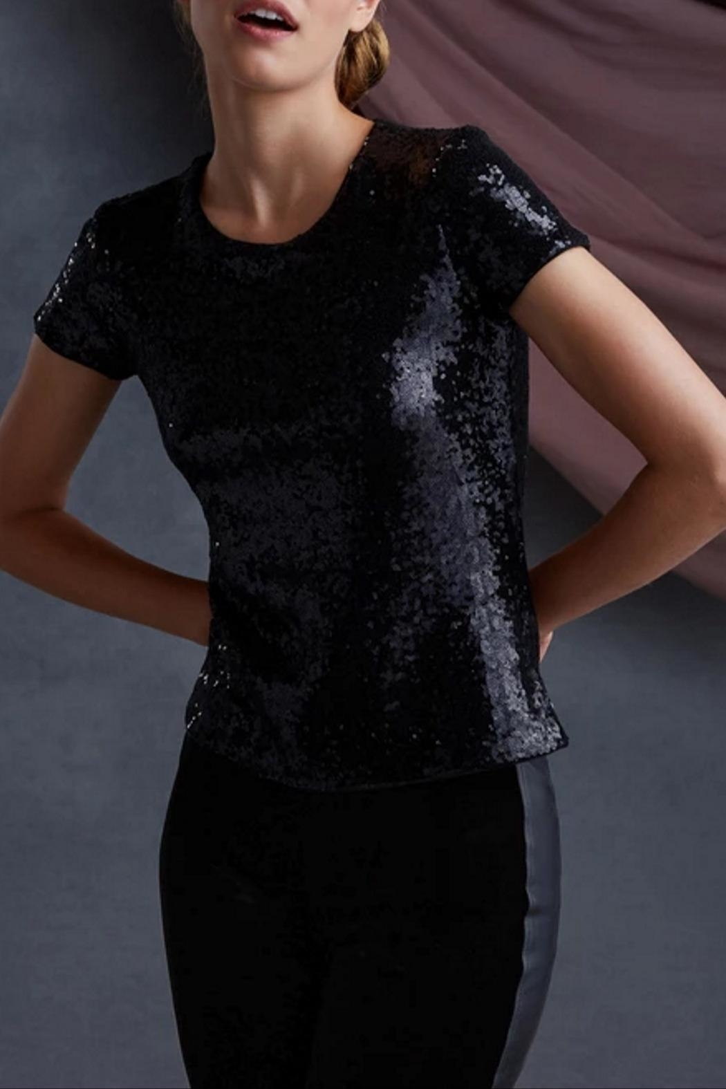 Bailey 44 Edie Sequin Top - Front Cropped Image
