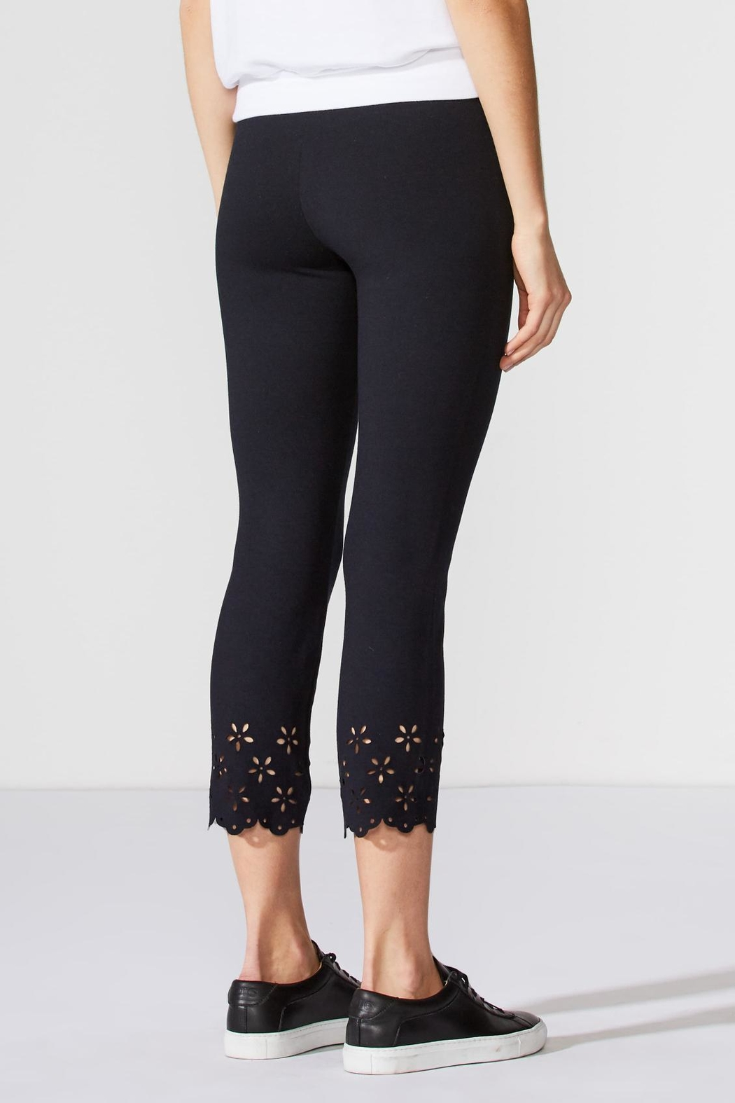 Bailey 44 Eyelet Ponte Pant - Side Cropped Image