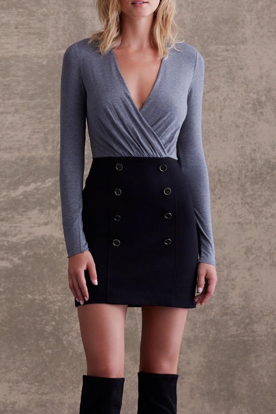 Bailey 44 Grey Button Dress - Main Image