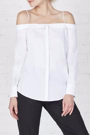 Shoptiques Product: Off The Shoulder Button Up - Front cropped
