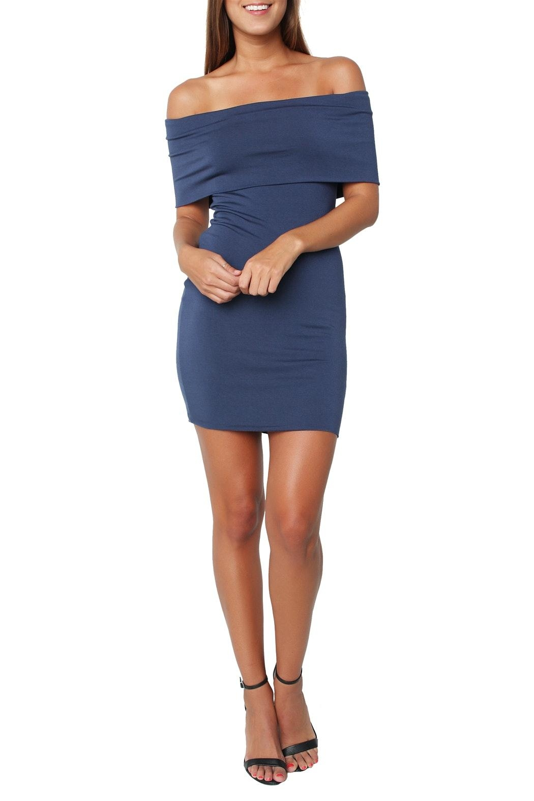 Bailey 44 Hot-Diggin Blue Dress - Front Full Image