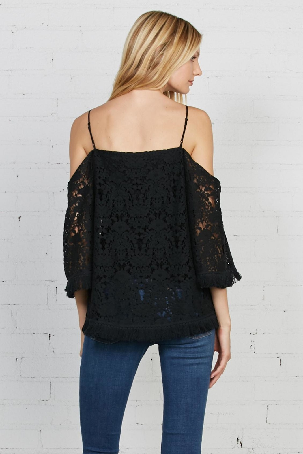 Bailey 44 Lace Cold Shoulder Top - Front Full Image