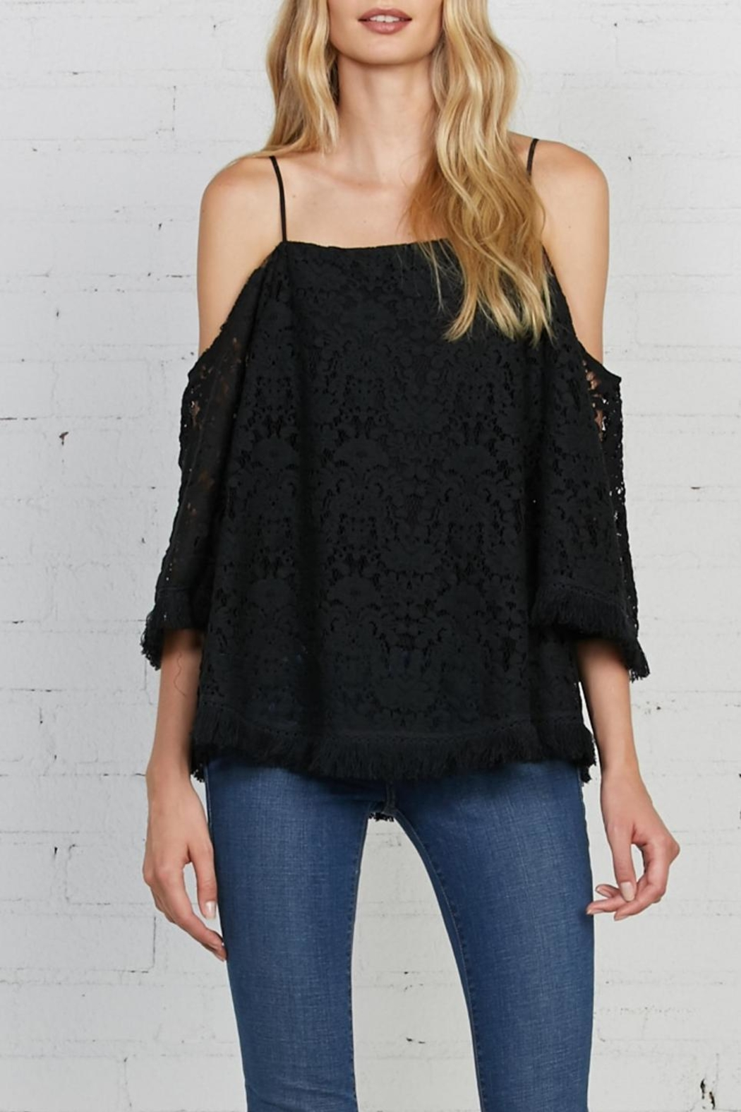 Bailey 44 Lace Cold Shoulder Top - Main Image