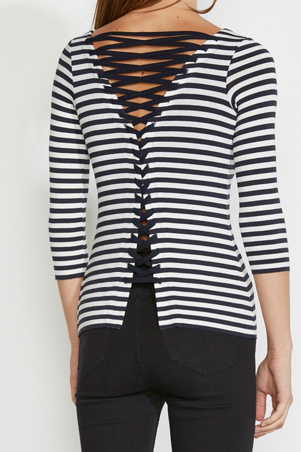 Bailey 44 Lace Up Top - Front Full Image