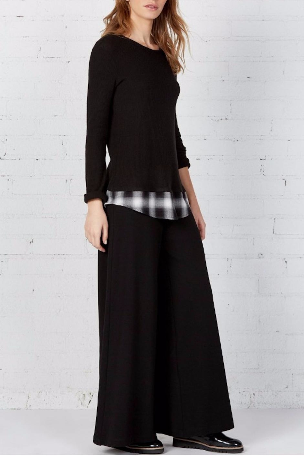 Bailey 44 Layered Plaid Top - Side Cropped Image