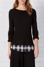 Bailey 44 Layered Plaid Top - Front cropped