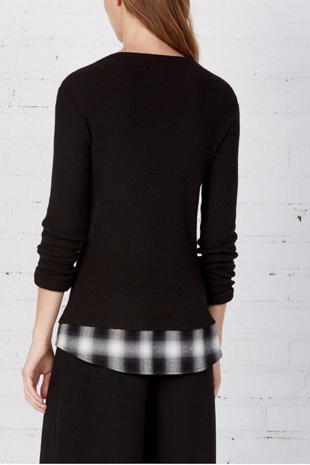 Bailey 44 Layered Plaid Top - Front Full Image