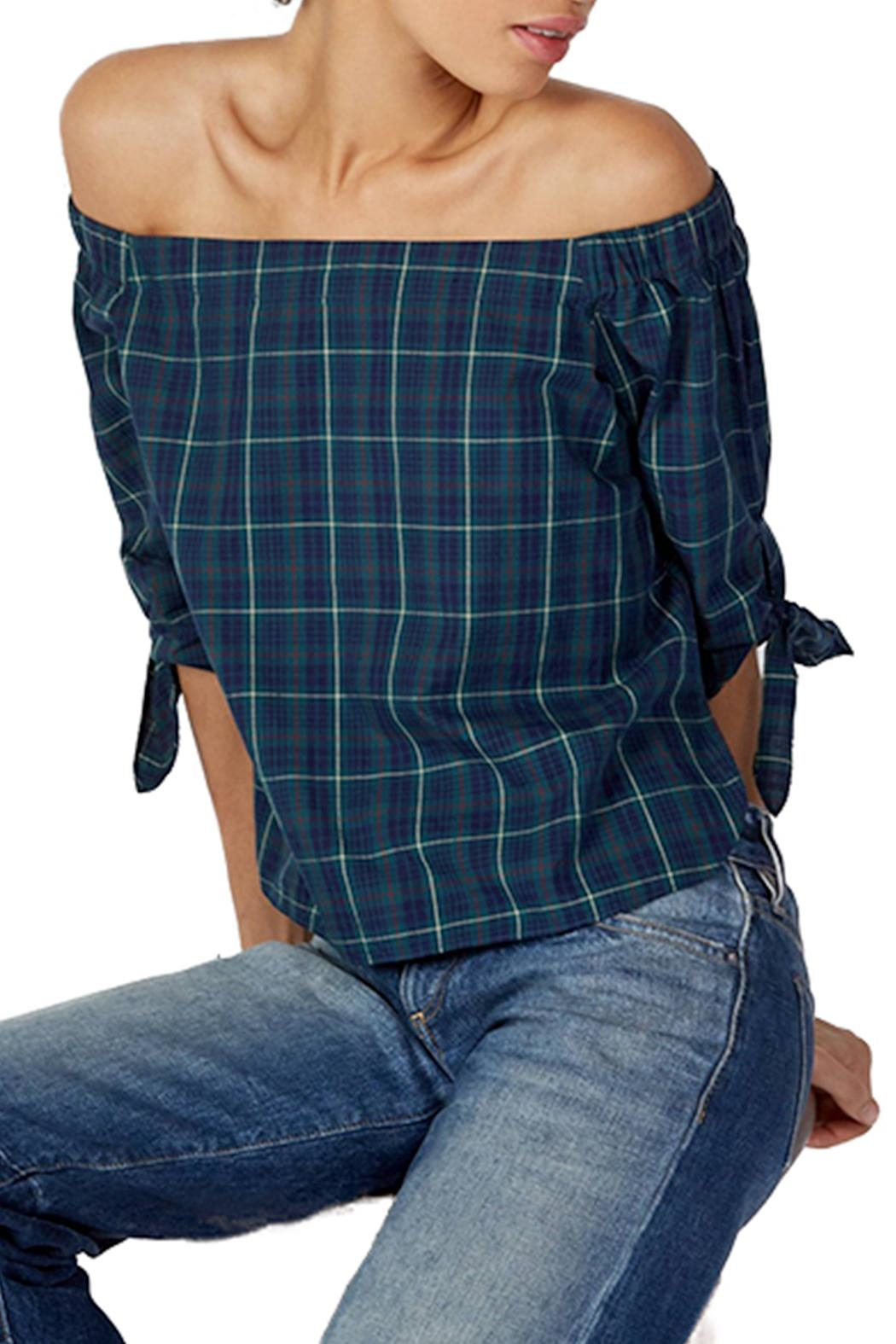Bailey 44 Plaid Off Shoulder Top - Main Image