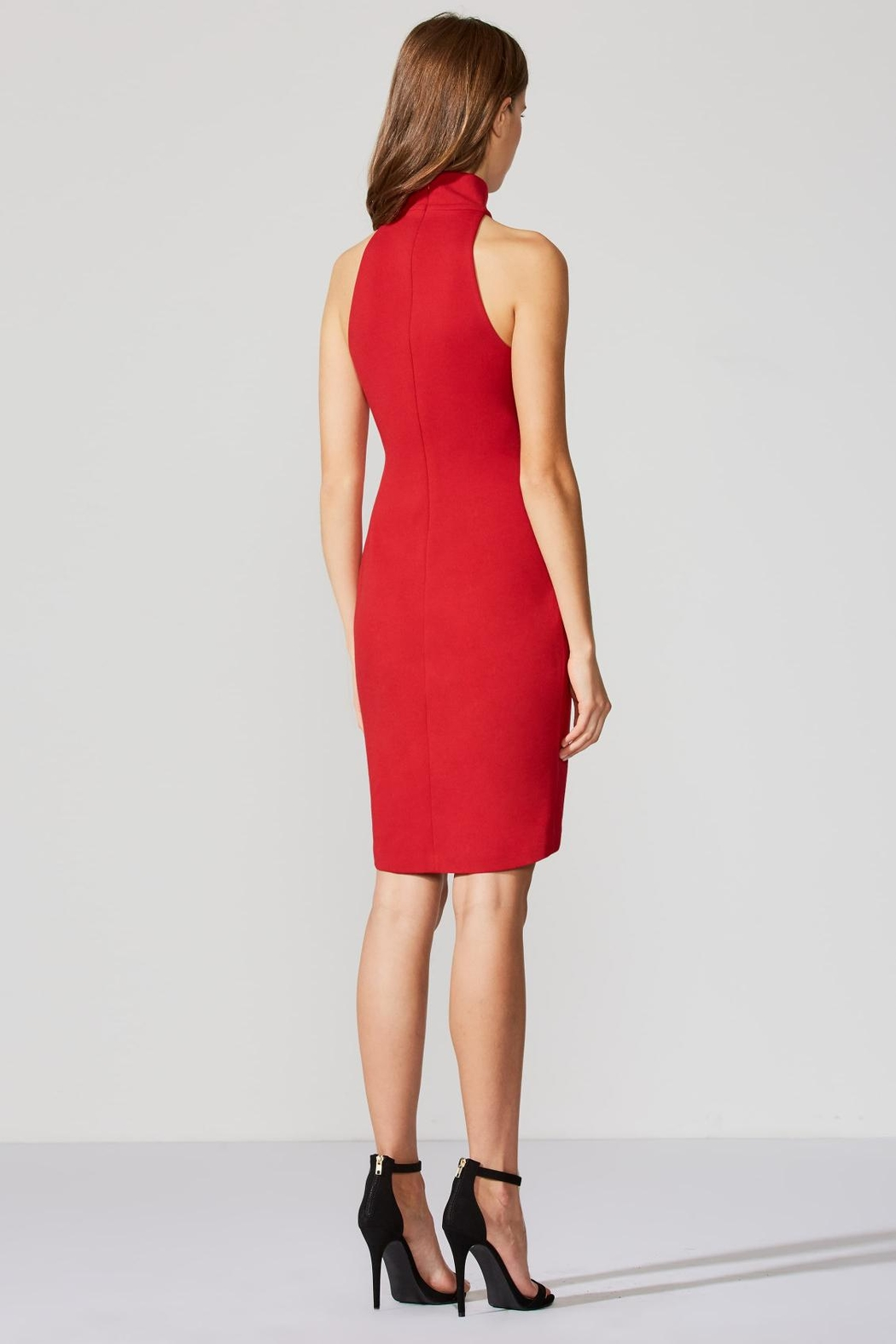 Bailey 44 Ponte Red Dress - Front Full Image