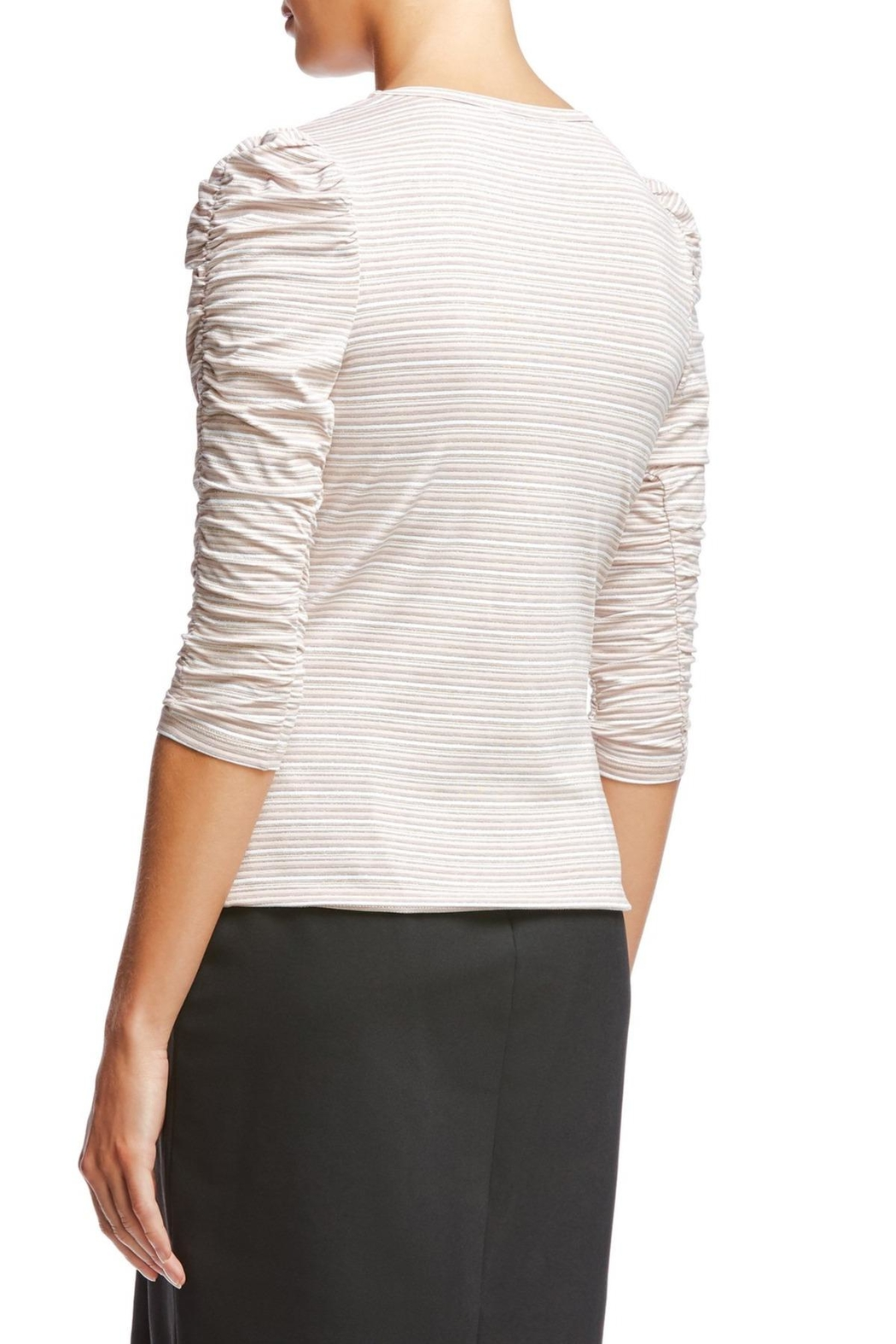 Bailey 44 Ruched Sleeve Top - Front Full Image
