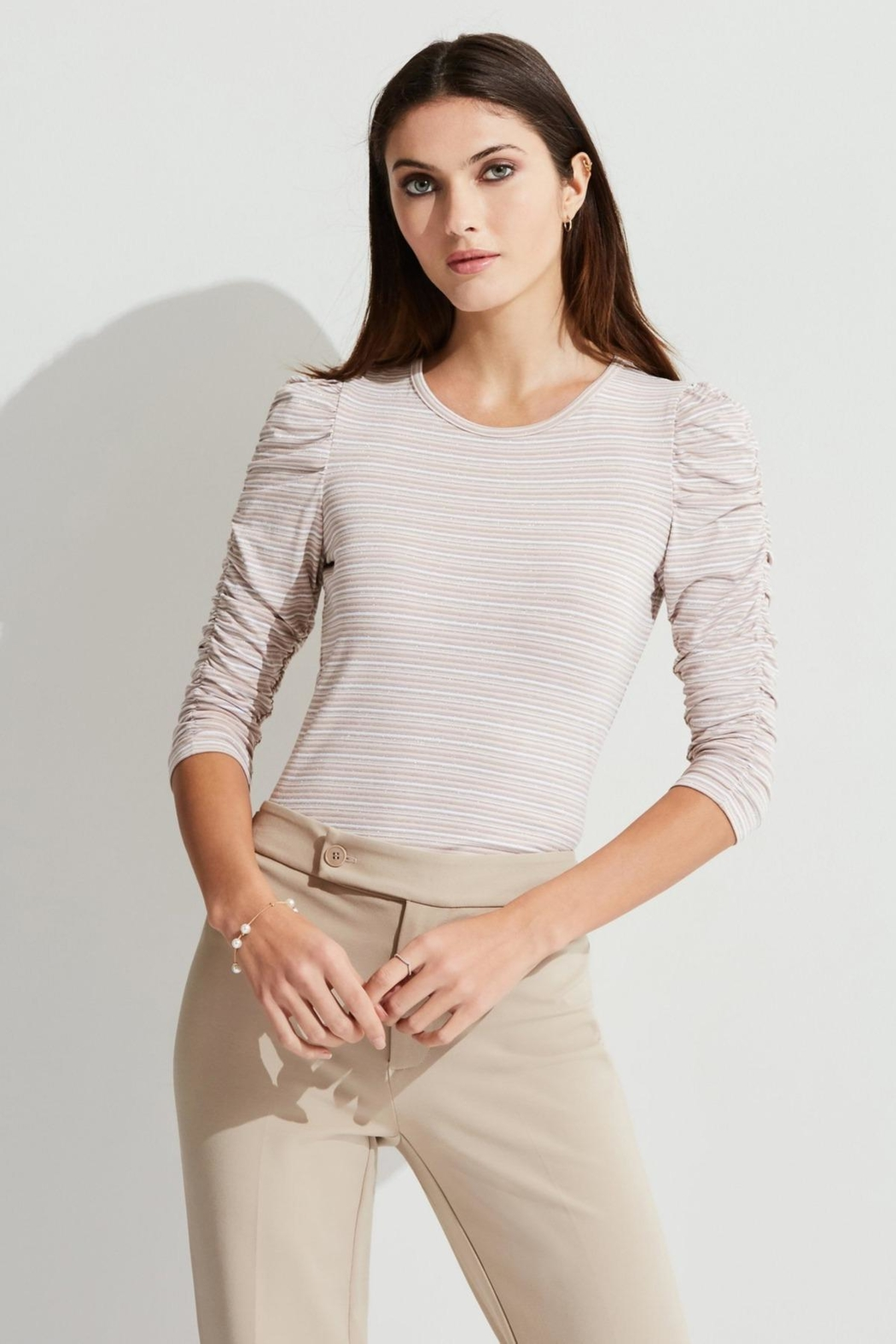 Bailey 44 Ruched Sleeve Top - Main Image