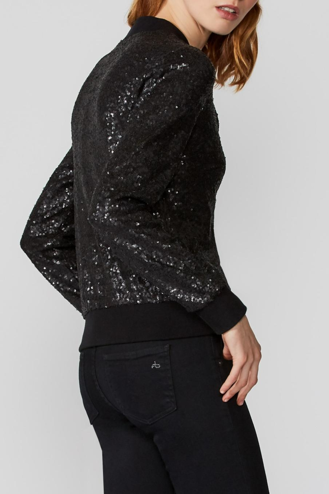 Bailey 44 Sequin Bomber Jacket - Side Cropped Image