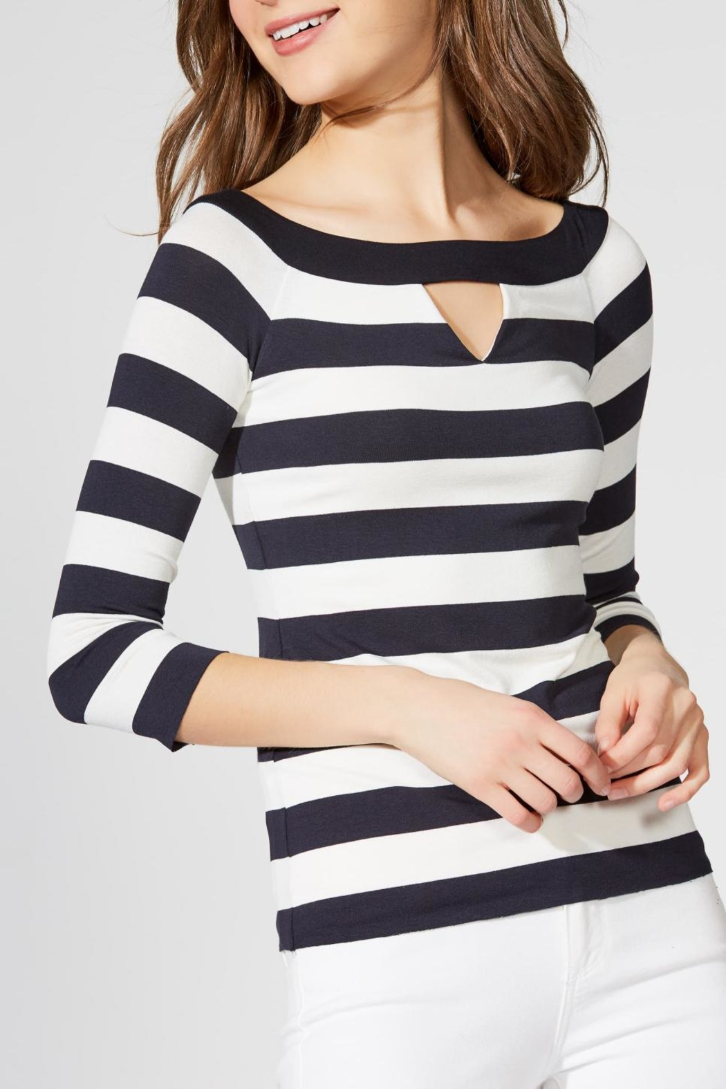 Bailey 44 Stripe Boatneck Top - Main Image