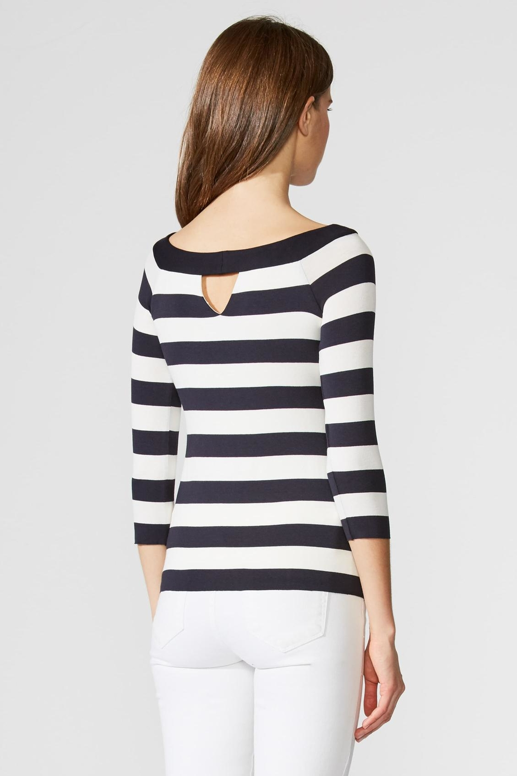 Bailey 44 Stripe Boatneck Top - Side Cropped Image