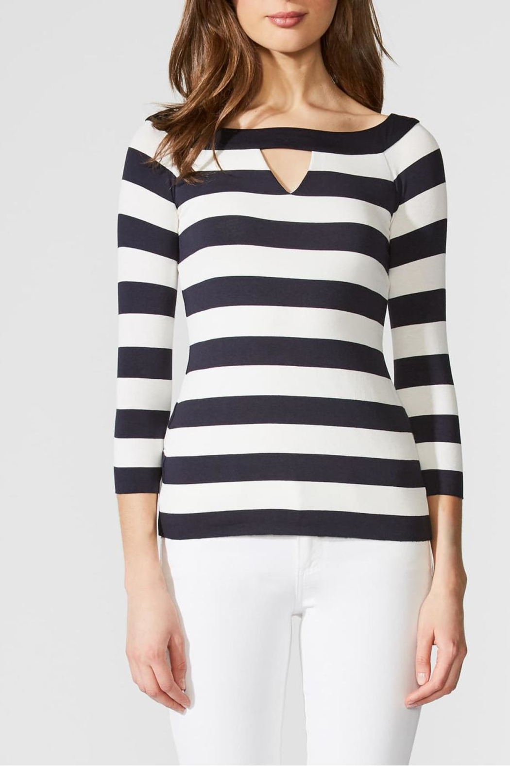 Bailey 44 Stripe Boatneck Top - Front Full Image