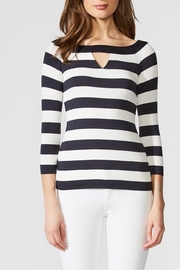 Bailey 44 Stripe Boatneck Top - Front full body