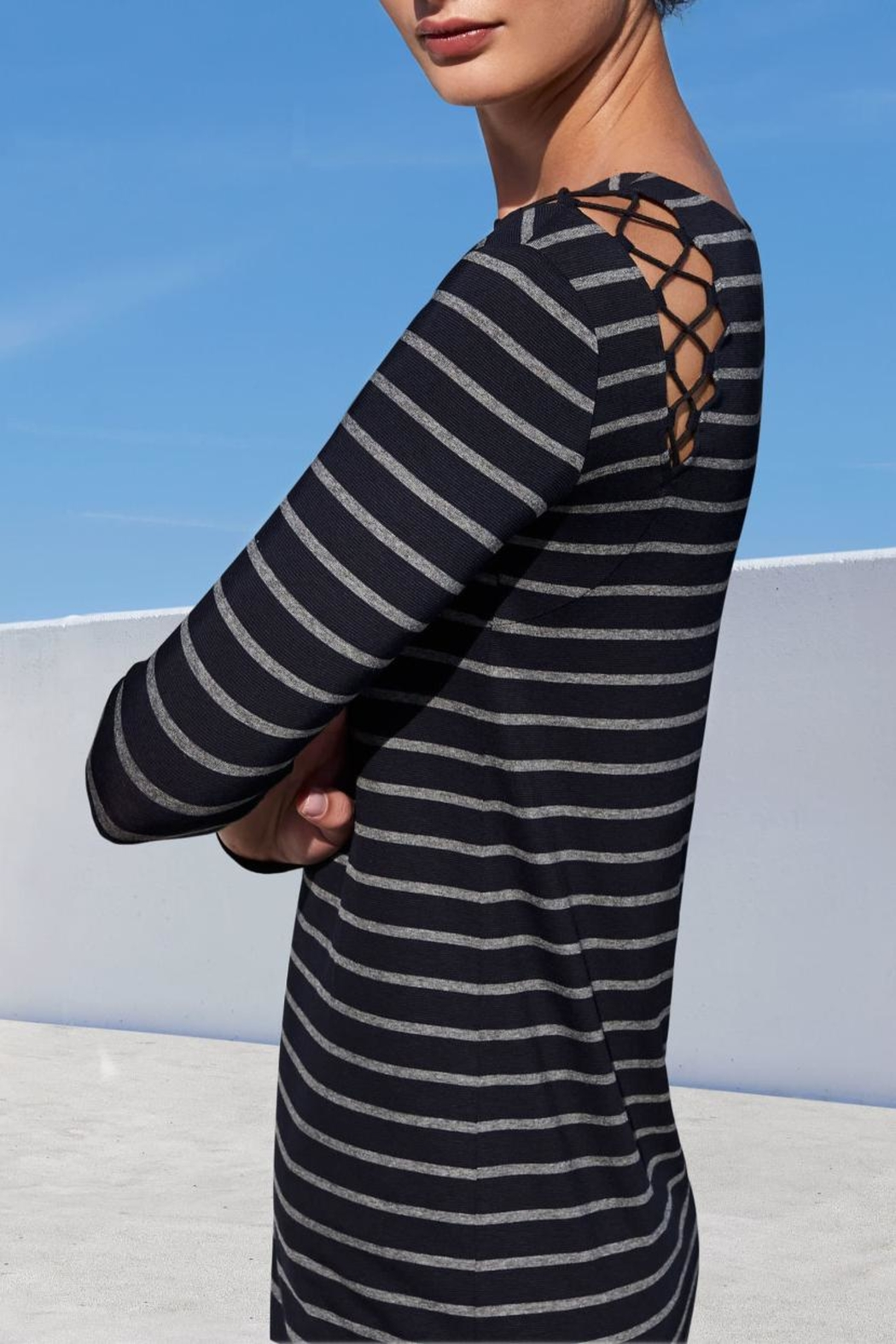 Bailey 44 Striped Jersey Dress - Side Cropped Image