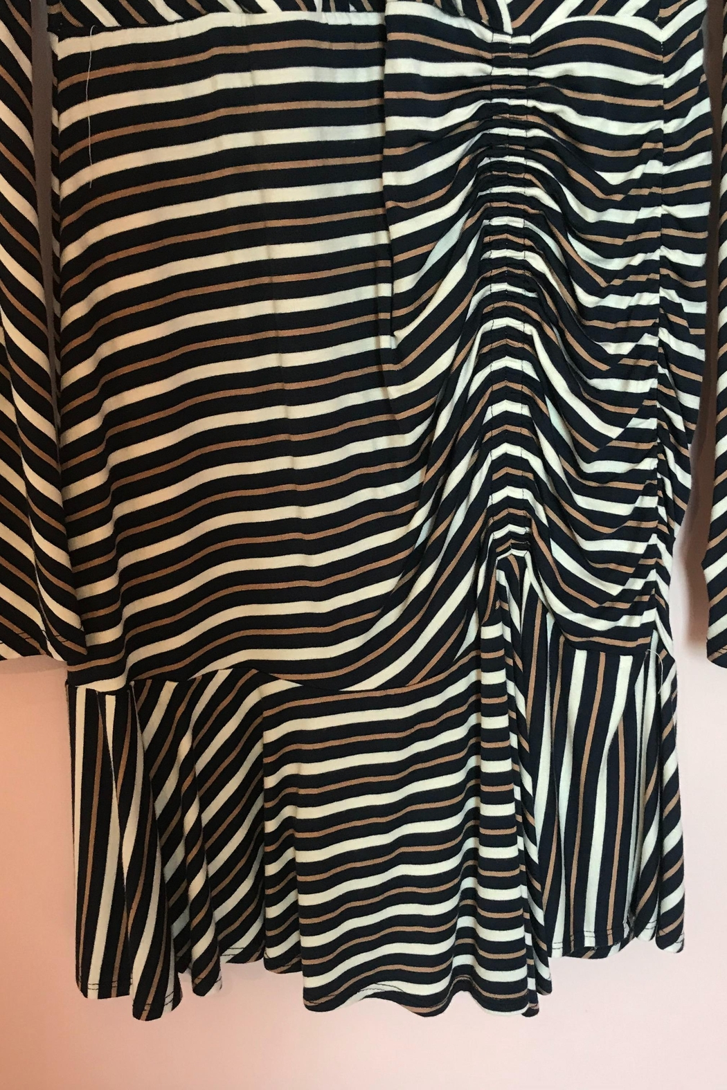 Bailey 44 Striped Ruched Dress - Side Cropped Image