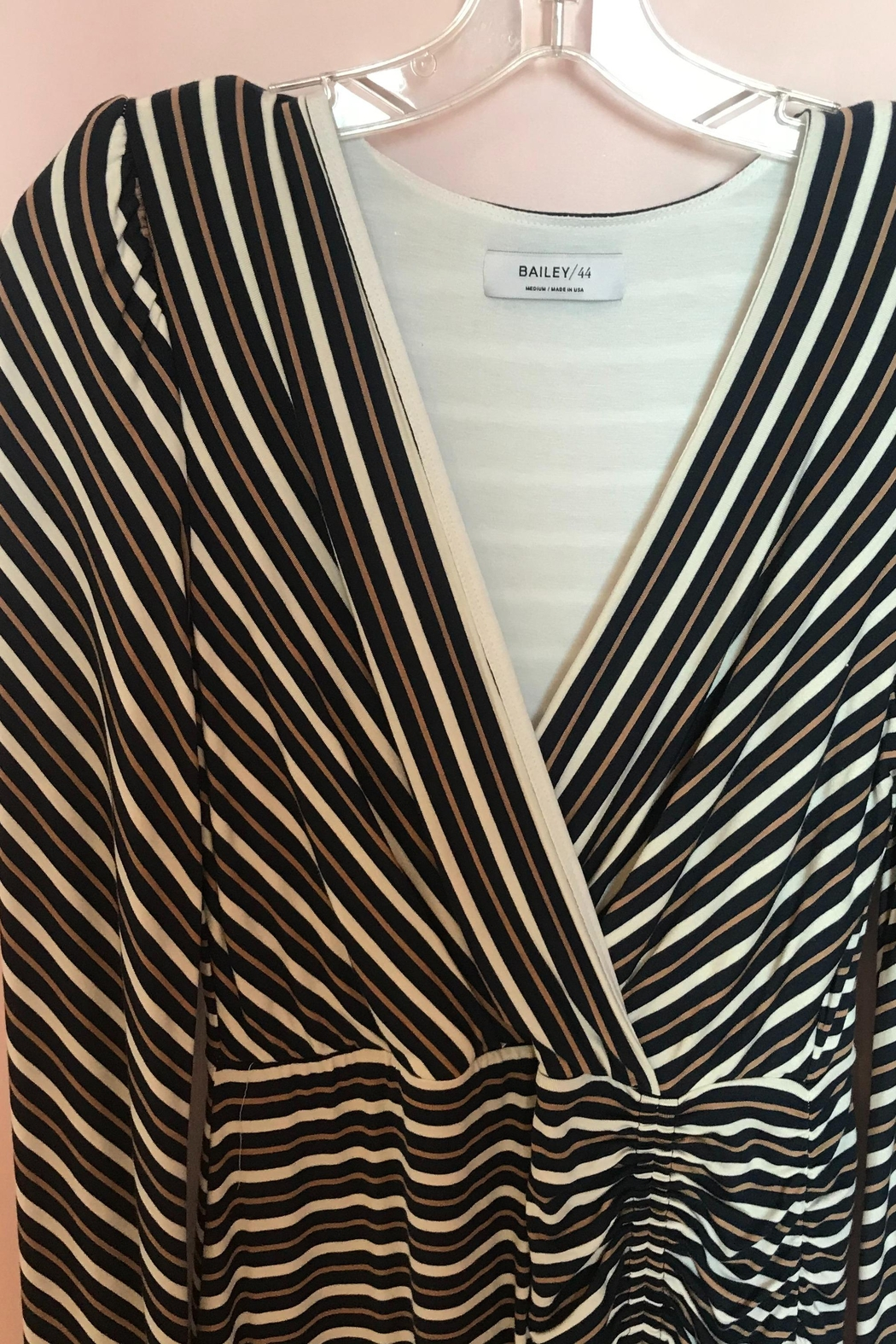 Bailey 44 Striped Ruched Dress - Front Full Image