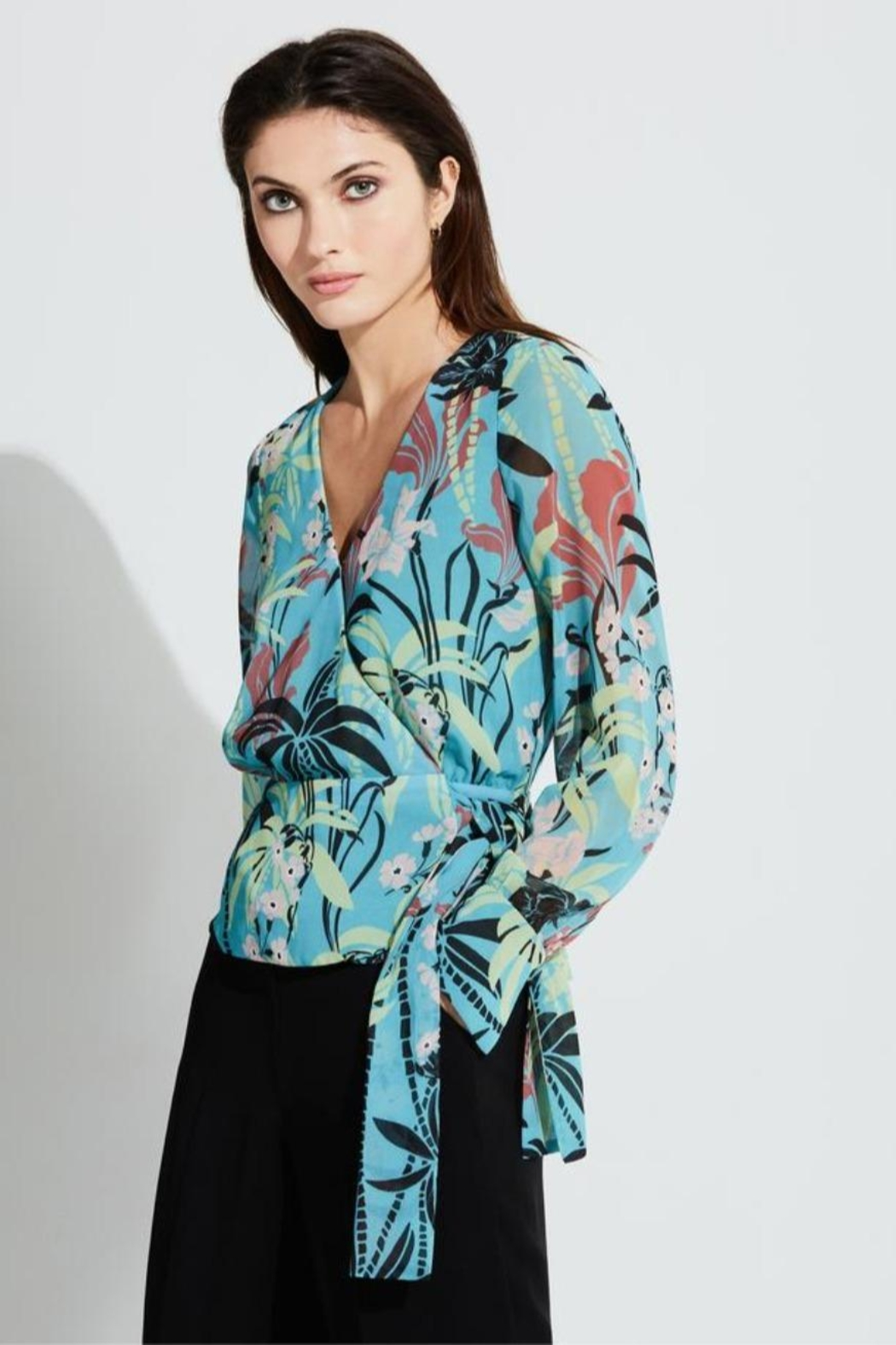Bailey 44 Tropical Modern-Print Top - Front Cropped Image