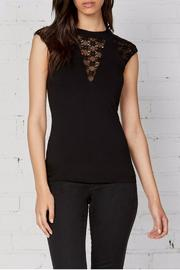 Shoptiques Product: Black Cap Sleeve Top - Front cropped