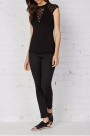Shoptiques Product: Black Cap Sleeve Top - Front full body