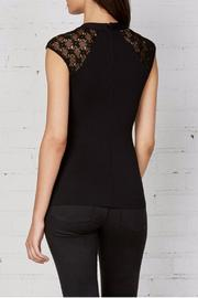 Shoptiques Product: Black Cap Sleeve Top - Side cropped