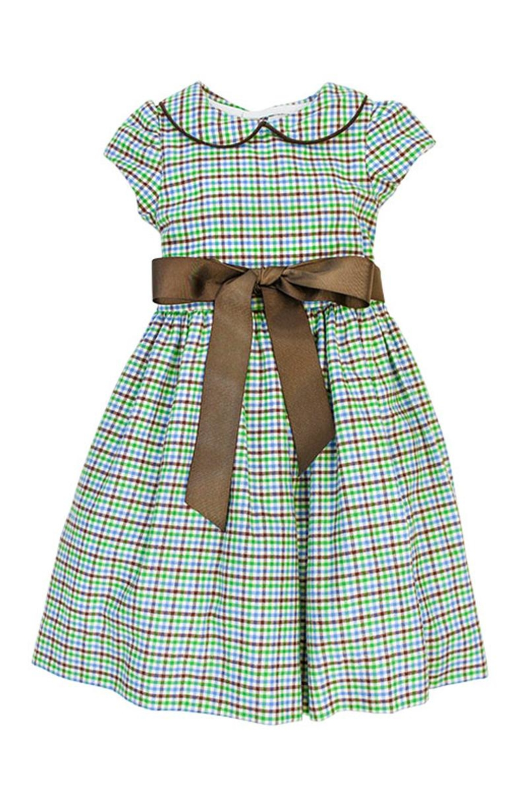Bailey Boys Acorn Plaid Empire-Dress - Back Cropped Image