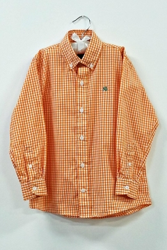 Bailey Boys Boys Orange Check Shirt - Alternate List Image