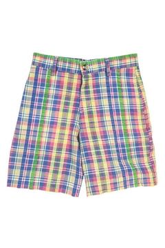 Bailey Boys Pastel Plaid Seersucker Short - Product List Image