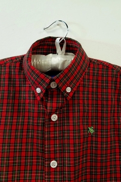 Bailey Boys Red-Tartan Plaid Shirt - Alternate List Image