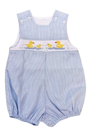 Bailey Boys Smocked Ducks Bubble - Front cropped