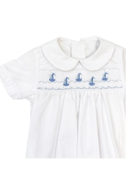 Bailey Boys Smocked Sailboats Sack-Gown - Front cropped