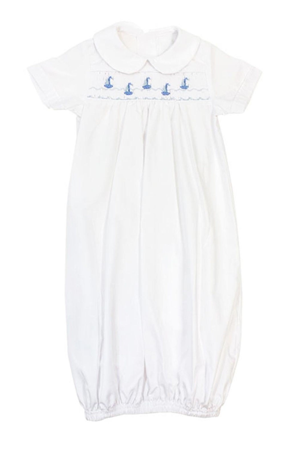 Bailey Boys Smocked Sailboats Sack-Gown - Front Full Image