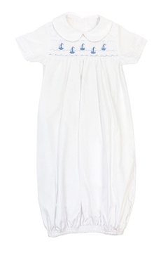 Bailey Boys Smocked Sailboats Sack-Gown - Alternate List Image