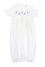 Bailey Boys Smocked Sailboats Sack-Gown - Front full body