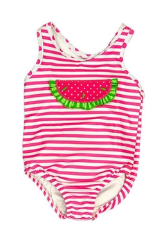 Shoptiques Product: Watermelon Lycra Swimsuit-Toddler