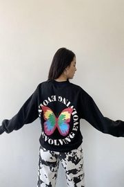 Bailey Rose Butterfly Print Pullover - Side cropped