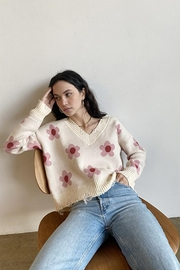 Bailey Rose Daisy V-Neck Sweater - Front cropped