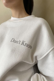 Bailey Rose Don't Know Don't Care Pullover - Front full body