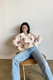 Bailey Rose Floral Cream Sweater - Product Mini Image
