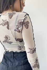 Bailey Rose Mesh Butterfly Top - Other