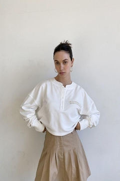 Bailey Rose 'Natural' Button Front Pullover - Alternate List Image