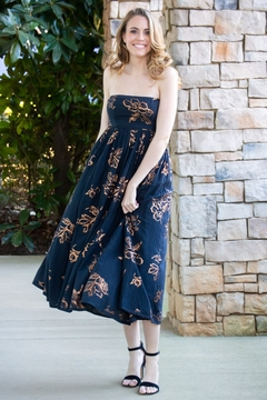 Free People Baja Babe Floral Strapless Midi Dress - Product List Image