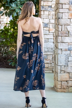 Free People Baja Babe Floral Strapless Midi Dress - Alternate List Image